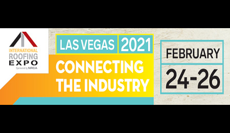 JOIN US AT BOOTH 3322 AT THE INTERNATIONAL ROOFING EXPO: FEB. 24-26, 2021